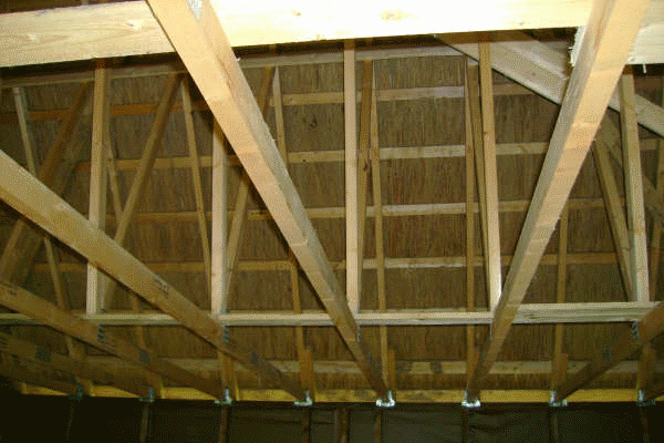 Thatched garage roof Monxton